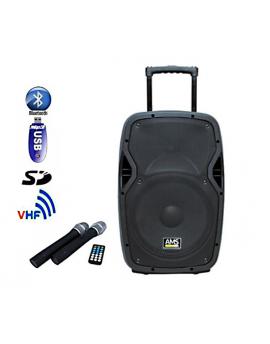 "Altavoz bateria AMS 15"" USB/SD/BT"