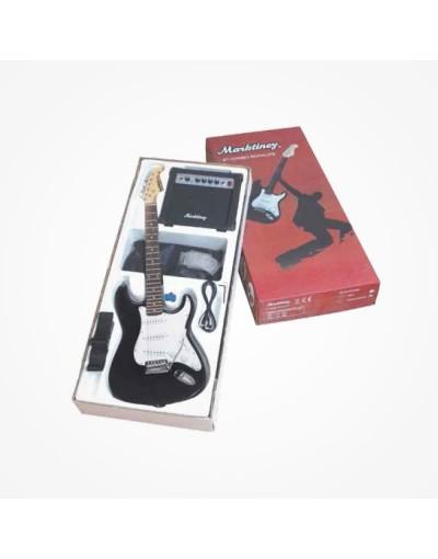 Pack Guitarra Electrica MARKTINEZ Negro