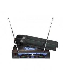Microfono Doble LEEM Inalambrico SERIE LVTR-24